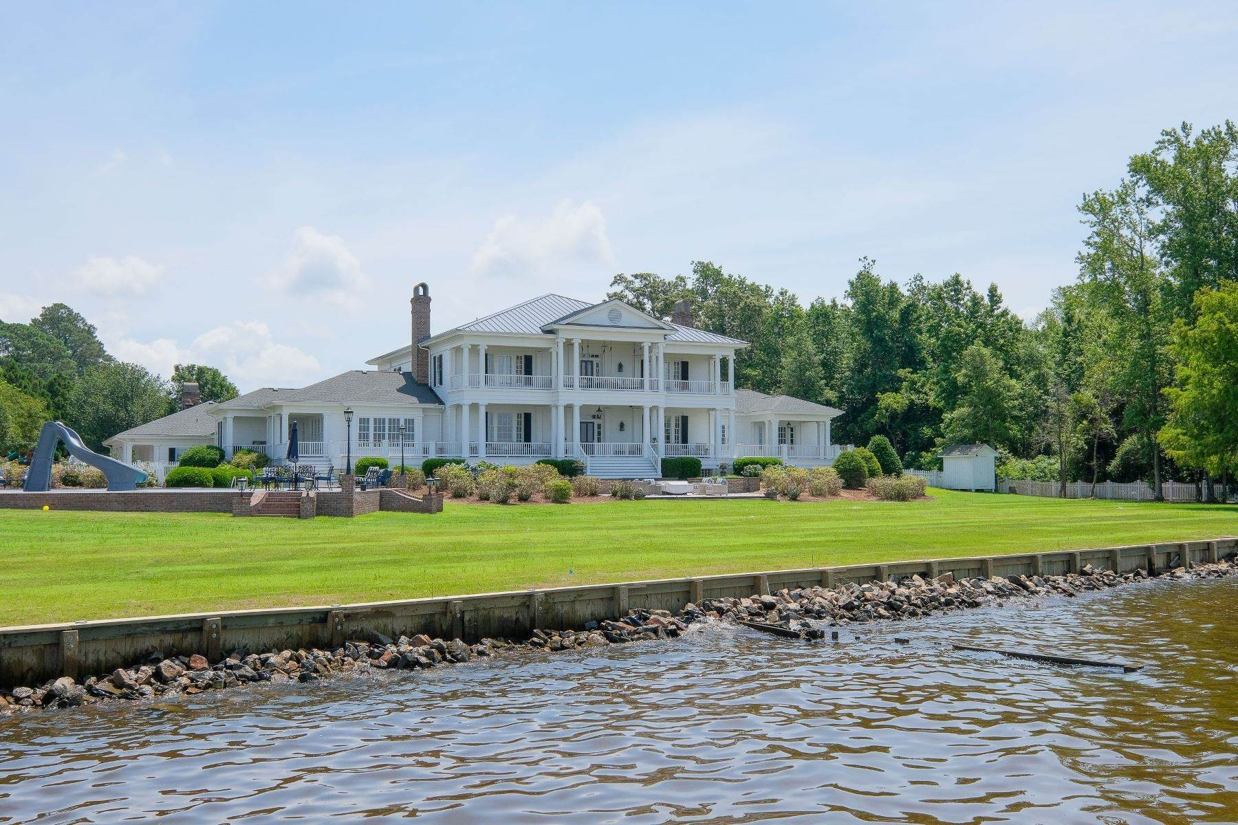 Single Family Homes for Sale at UNPARALLELED WATERFRONT ESTATE 210 Blair Court Edenton, North Carolina 27932 United States